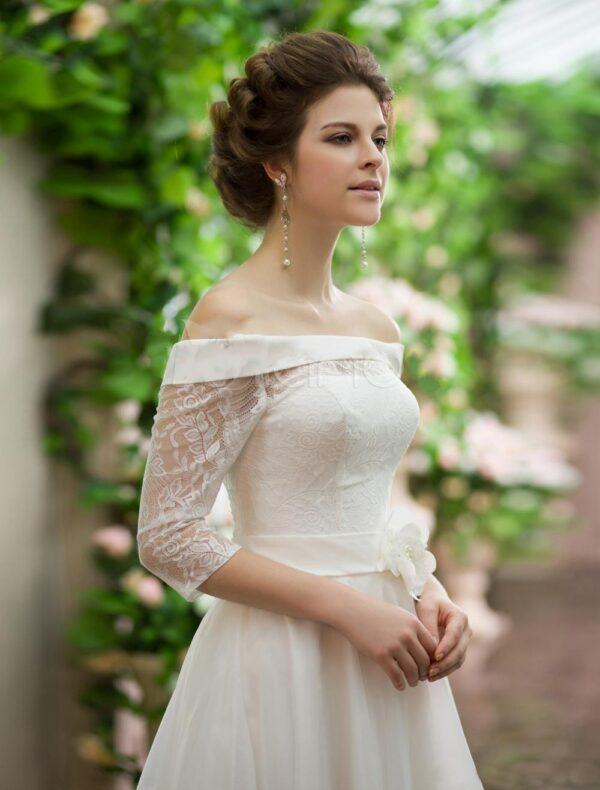 Robe De Mariée Courte Devant Longue Derrière | Soirée Blanche