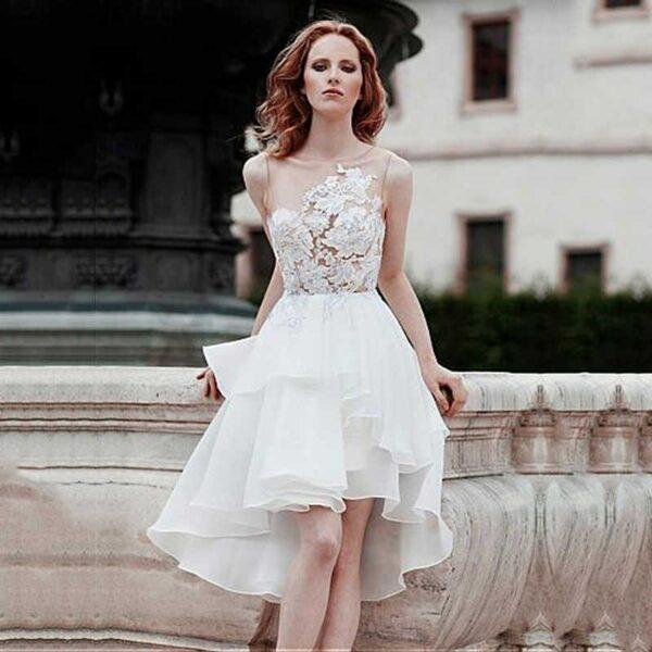 Robe Courte De Mariée Blanche | Soirée Blanche
