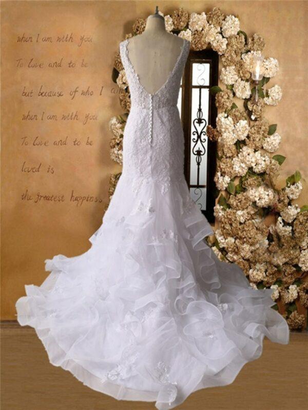 Robe De Mariée Sirène Princesse Blanche | Soirée Blanche