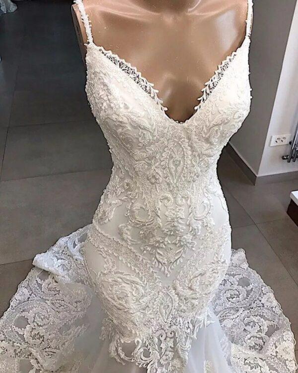 Robe De Mariée Sirène Dos Nu Blanche | Soirée Blanche