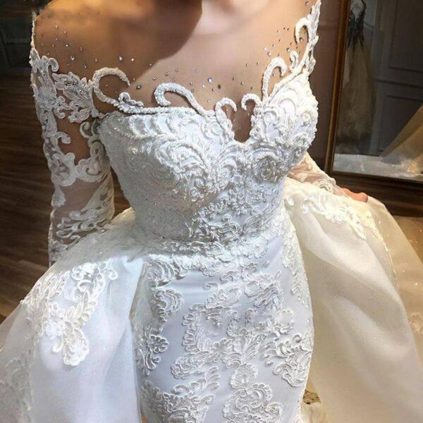 Robe De Mariée Sirène De Luxe Blanche | Soirée Blanche