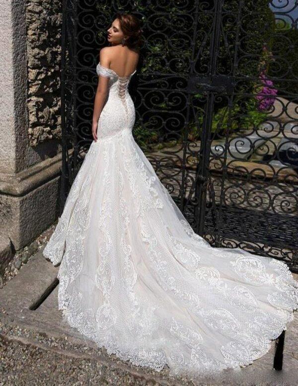 Robe Mariée Sirène Dos Nu | Soirée Blanche