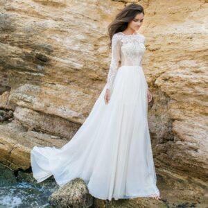 Robe De Mariée Romantique Champêtre | soirée Blanche