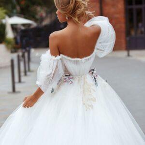 Robe De Mariée Princesse Dos Nu | Soirée Blanche