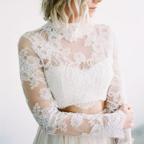Robe De Mariée Jupe Et Bustier Blanche | Soirée Blanche