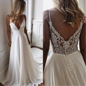 Robe De Mariée Simple Blanche   Soirée Blanche