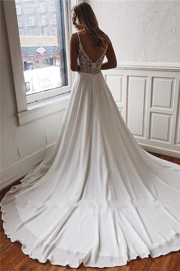 Robe De Mariée Simple Blanche | Soirée Blanche