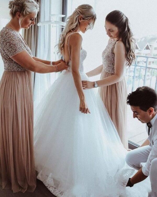 Robe De Mariée Tulle Et Dentelle | Soirée Blanche