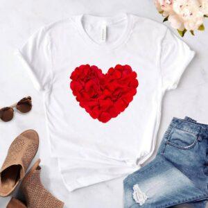 T-shirt Cœur Femme Blanc | Soirée Blanche