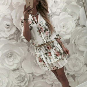 Robe Blanche Fleurie | Soirée Blanche