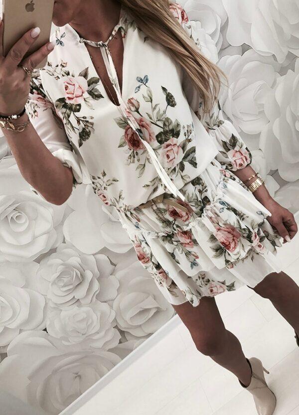 Robe Blanche Fleurie   Soirée Blanche