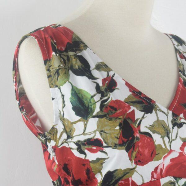 Robe Blanche Avec Roses | Soirée Blanche