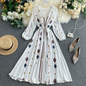 Robe Blanche Brodée | Soirée Blanche