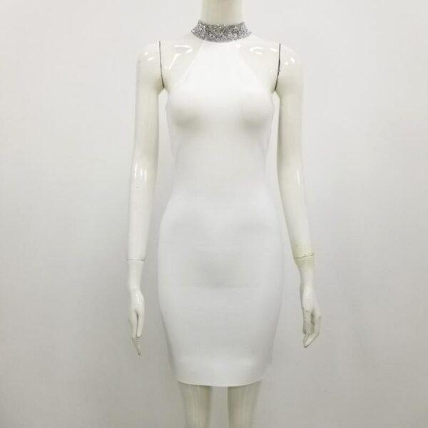 Robe Blanche Argentée   Soirée Blanche