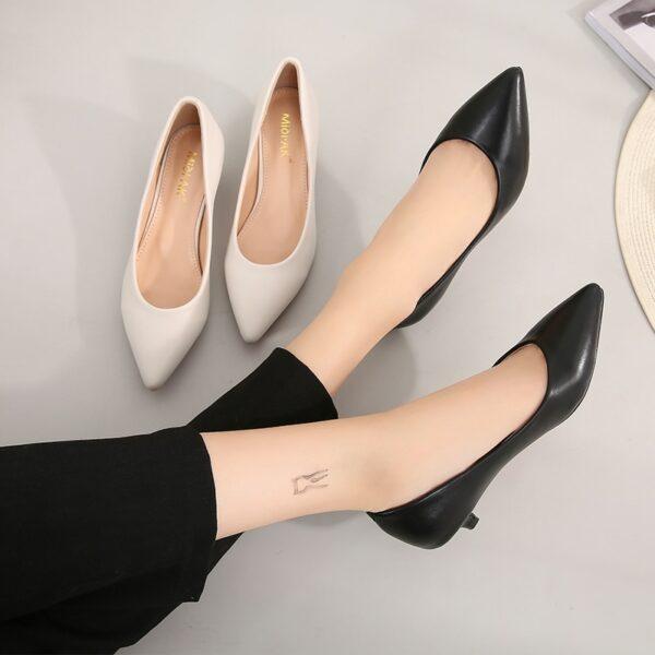 Chaussures Blanches Petits Talons Femme | Soirée Blanche