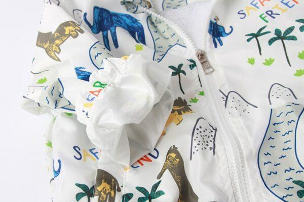 Coupe-Vent Blanc et Motifs Enfant | Soirée Blanche