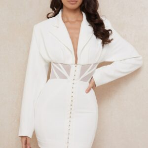 Robe Blazer Blanche | Soirée Blanche