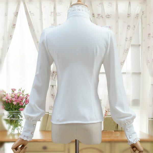Chemise A Jabot Blanche Femme | Soirée Blanche