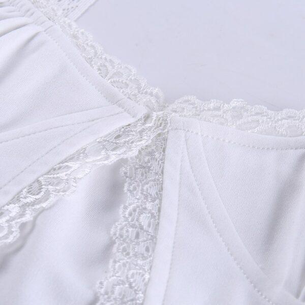Crop Top Blanc Dentelle | Soirée Blanche