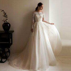 Robe De Mariée Vintage Romantique Blanche | Soirée Blanche