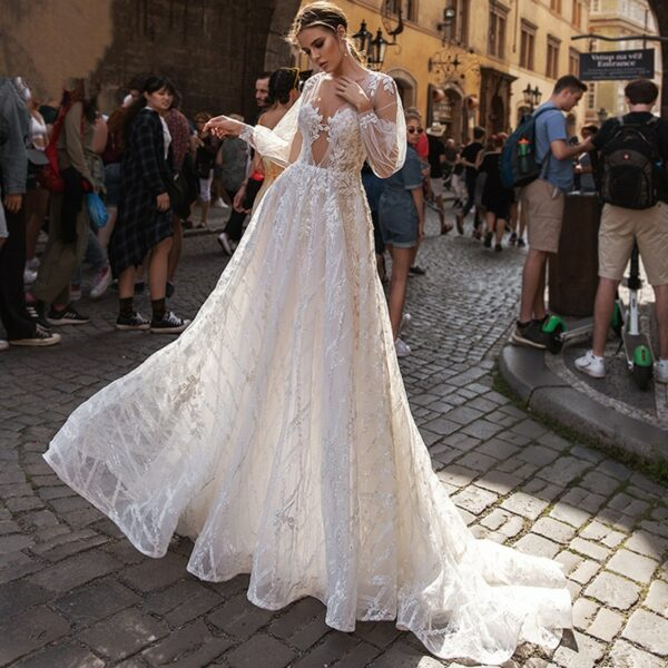 Robe De Mariée Princesse Sexy Blanche | Soirée Blanche
