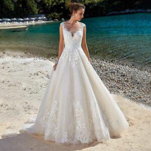 Robe De Mariée Princesse Volumineuse Blanche | Soirée Blanche