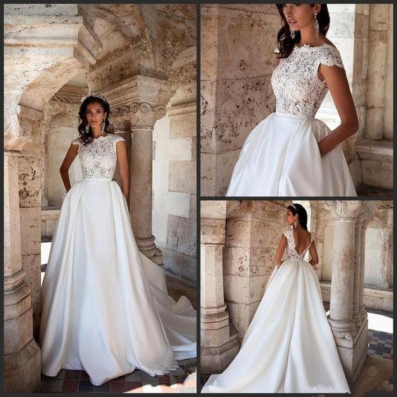 Robe De Mariée Princesse Luxe Blanche | Soirée Blanche