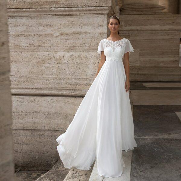Robe De Mariée Bohème Princesse Blanche | Soirée Blanche