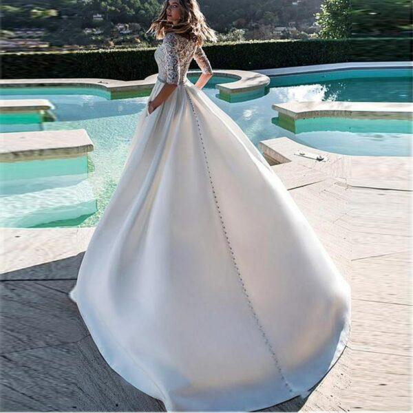 Robe De Mariée Avec Manche Blanche | Soirée Blanche