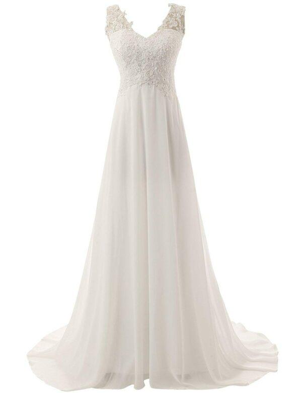 Robe De Mariée Simple Dos Nu | Soirée Blanche