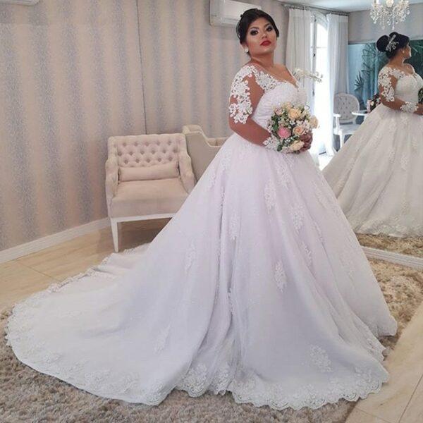 Robe De Mariée Femme Ronde Blanche | Soirée Blanche