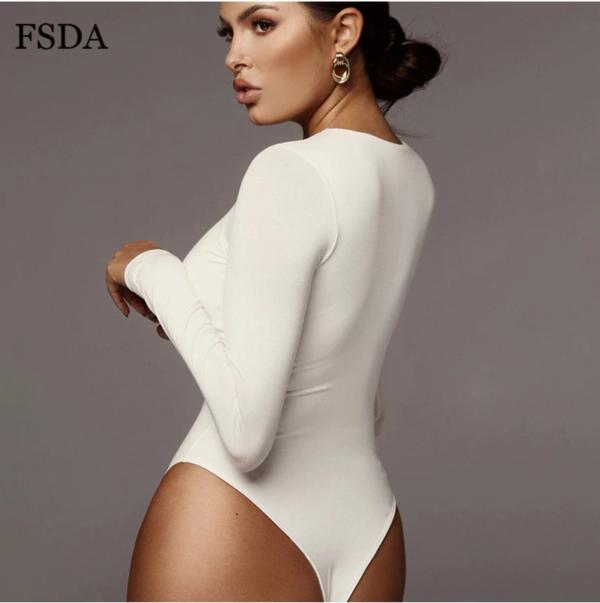 Body Blanc Femme Manche Longue | Soirée Blanche