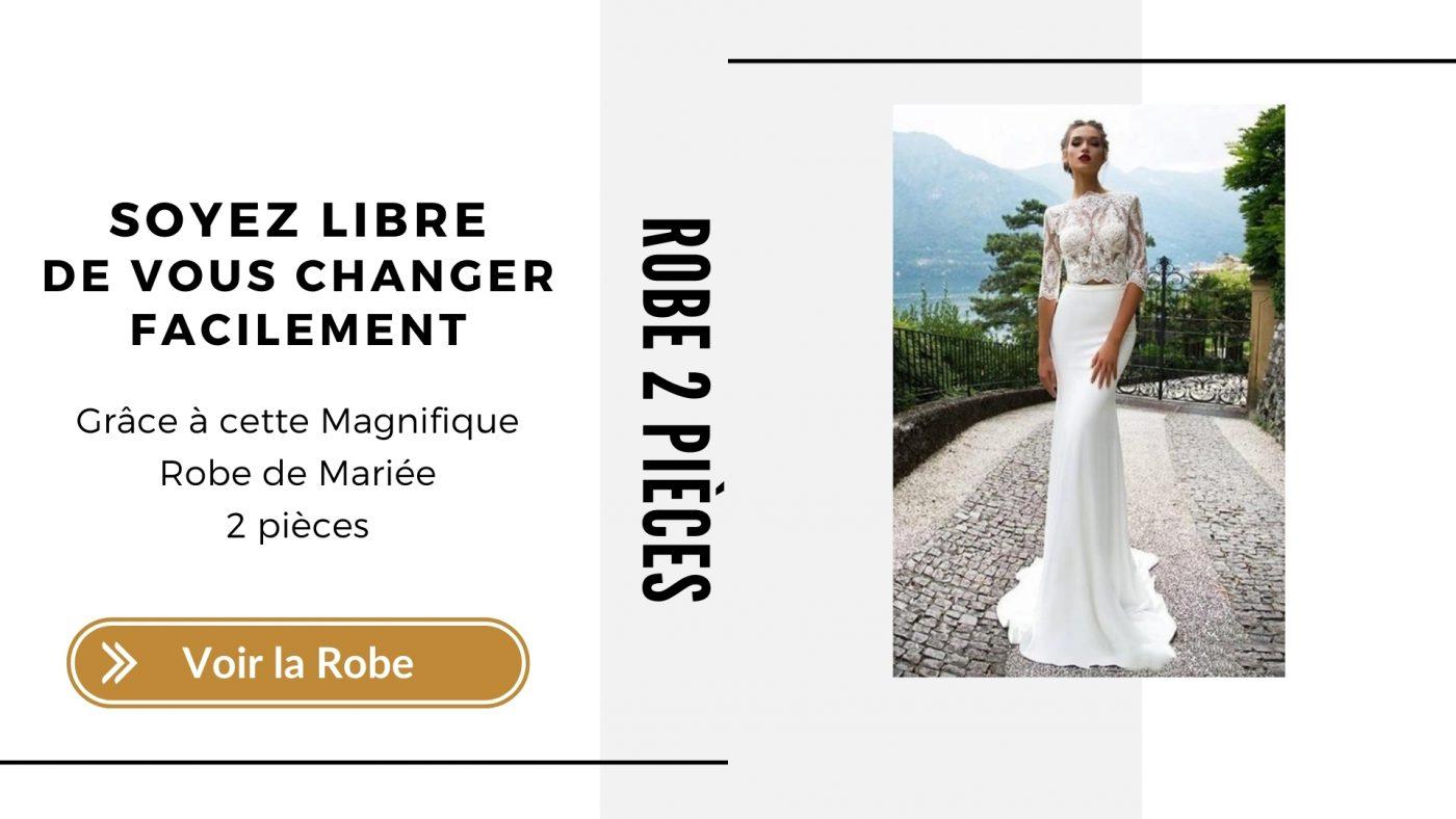 Robe de Mariee 2 pieces - Soiree-Blanche