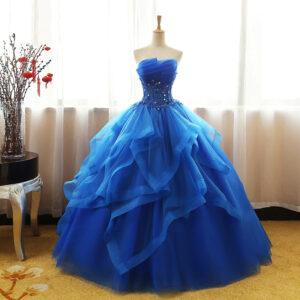 Robe De Mariée Bleu | Soirée Blanche