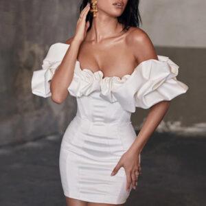 Robe Blanche Bustier Courte | Soirée Blanche