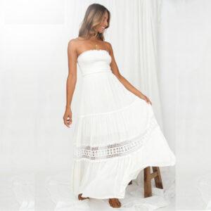 Robe Blanche Bustier Longue | Soirée Blanche