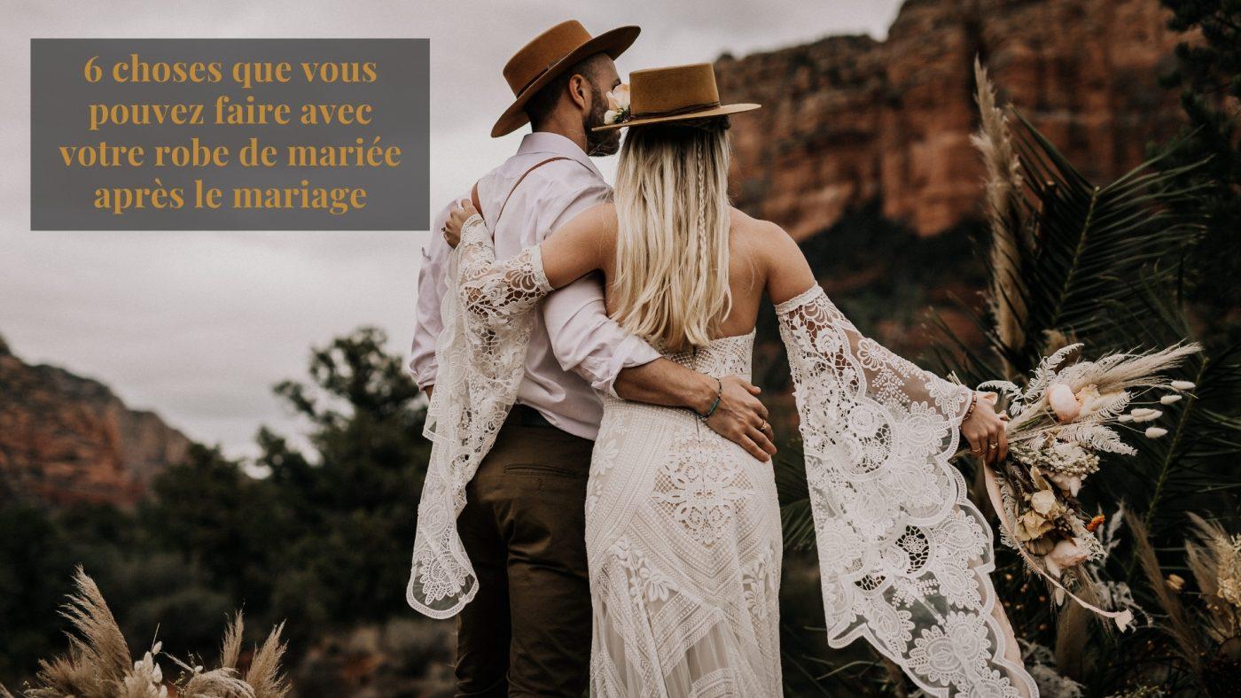 que faire de sa robe de mariée