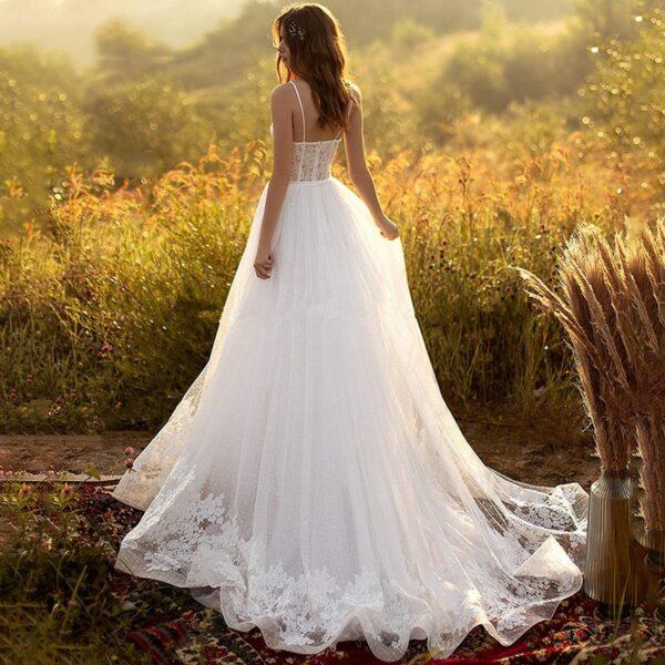 Robe De Mariée Bustier Blanche | Soirée Blanche