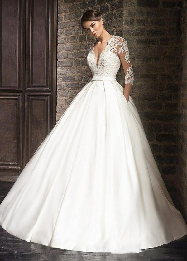 Robe De Mariée Elégante Blanche | Soirée Blanche