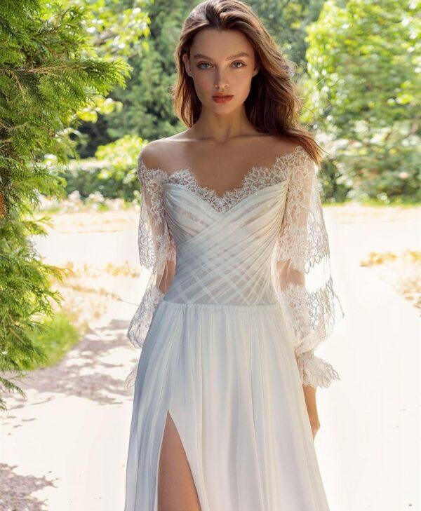Robe De Mariée Style Bohème Blanche | Soirée Blanche