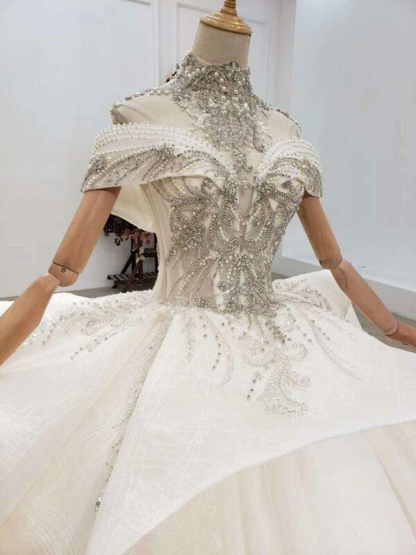Robe De Mariée Princesse Paillette | Soirée Blanche