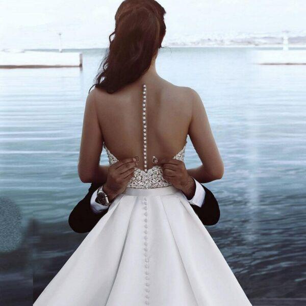 Robe De Mariée Illusion 2 Pièces | Soirée Blanche