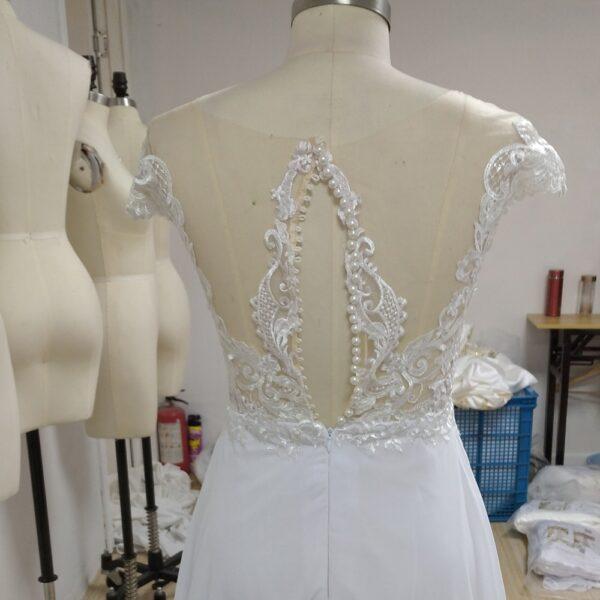 Robe De Mariée Dentelle Dos Nu | Soirée Blanche