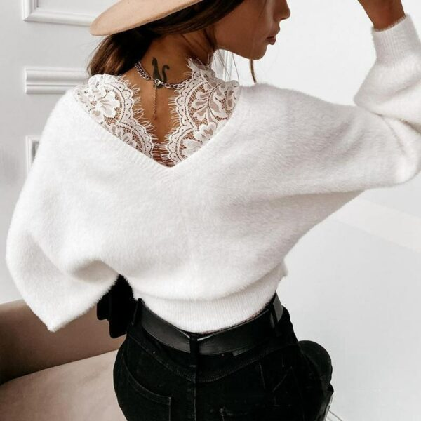 Pull Dentelle Blanc | Soirée Blanche
