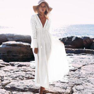 Robe Longue Bohème Blanche | Soirée Blanche