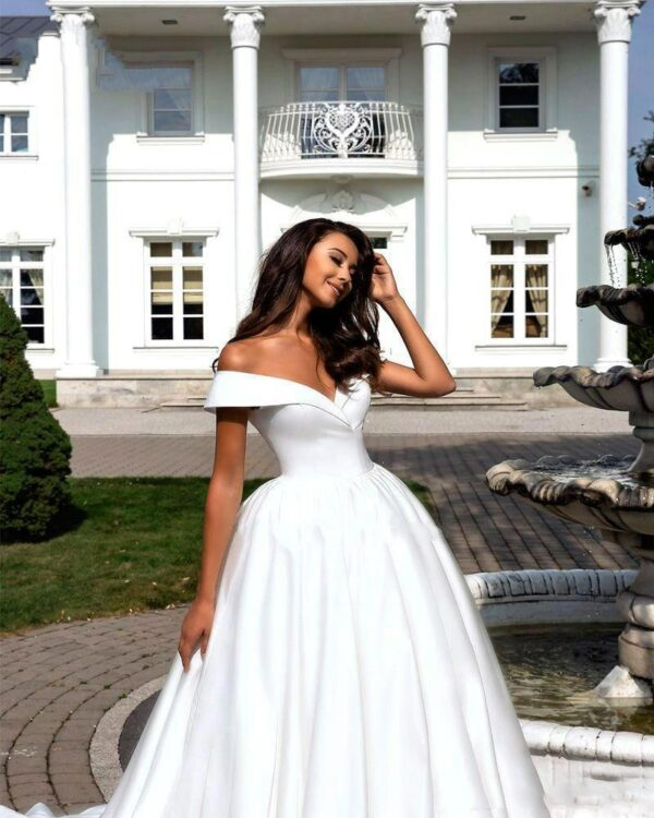 Robe De Mariage Glamour Chic Blanche   Soirée Blanche