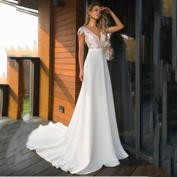 Robe De Mariée Fourreau Blanche | soirée blanche
