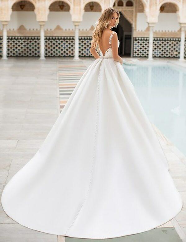 Robe De Mariée Princesse Chic Blanche | Soirée Blanche
