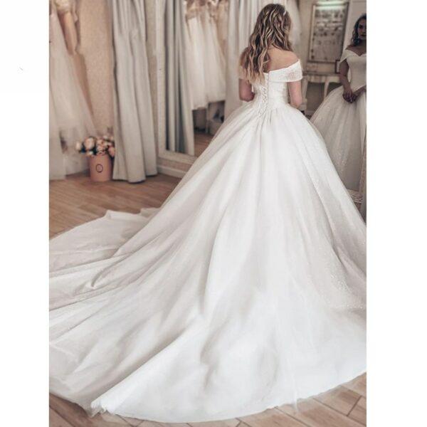 Robe De Mariée Strass Et Paillette Princesse | Soirée Blanche