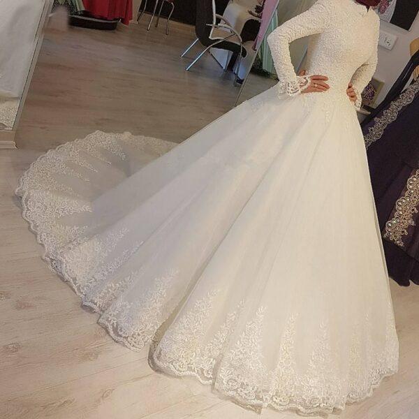 Robe De Mariée Musulmane Blanche | Soirée Blanche
